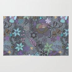 Colorful grey xmas pattern Rug