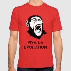 VIVA LA EVOLUTION LARGE Red Mens Fitted Tee
