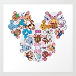 famous mouses Art Print