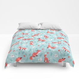 Fox and Bunny Pattern Comforters