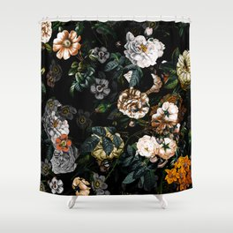 Floral Night Garden Shower Curtain