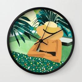 Chill #illustration #travel Wall Clock