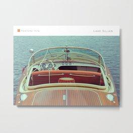Pantone: Lake Siljan Metal Print