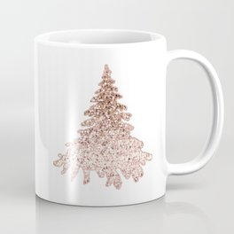 Sparkling christmas tree rose gold ombre Coffee Mug