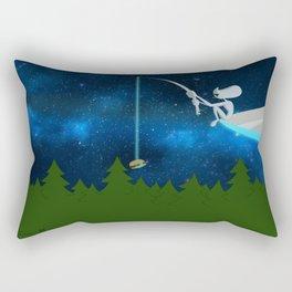 Fishing for Humans Rectangular Pillow