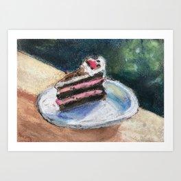 Black Forest Cake Art Print
