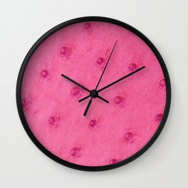 Ostrich leather effect (pink) Wall Clock