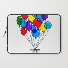 A Bouquet of Multi-Colored Balloons tied in a Bow Laptop Sleeve
