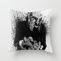 gladiator Throw Pillows featuring The Gladiator by Matthew Dunn