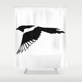 Pica Pica (magpie)  one Galery Giftshop Shower Curtain