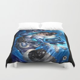 over mei watch Duvet Cover