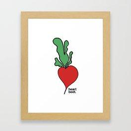 Heart Beet Framed Art Print