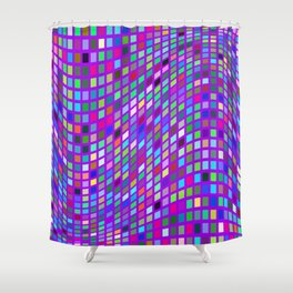 Lilac colorful Mosaic Shower Curtain