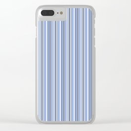 gray and blue striped . Clear iPhone Case