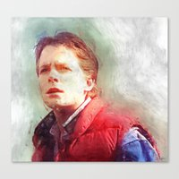 marty mcfly Canvas Prints featuring Marty Mcfly by Kaivan Askari