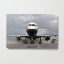 America West Airlines 757 parked on ramp Metal Print