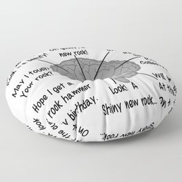 Geologist's Brain Humor Floor Pillow