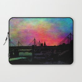 Psychedelic Thames skyline Laptop Sleeve
