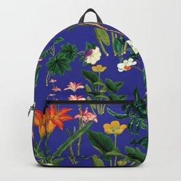 Vintage wild flowers blue Backpack