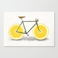 cycle Canvas Prints featuring Zest by Florent Bodart / Speakerine
