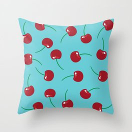Les Cerises Throw Pillow