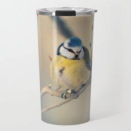 Blue and yellow tit Travel Mug
