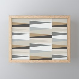 Scandinavian Geometry Pattern grey #Homedecor Framed Mini Art Print