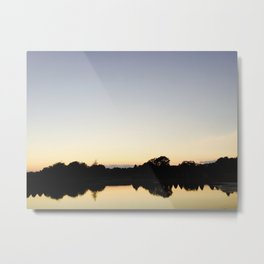 Serene Rhode Island Lake at Dusk Metal Print