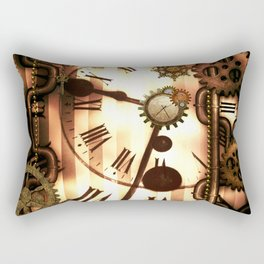 Steampunk, clocks and gears, vintage design Rectangular Pillow