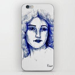 Vitage Girl iPhone Skin