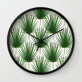 Simple Palm Leaf Geometry Wall Clock