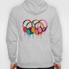 Colorful Headphones Hoody