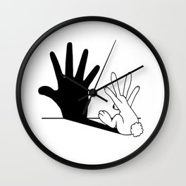 Rabbit Hand Shadow Wall Clock