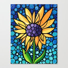 Standing Tall - Sunflower Art By Sharon Cummings Canvas Print
