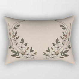 Floral Antler Rectangular Pillow