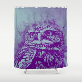 owl portrait 5 wspb Shower Curtain