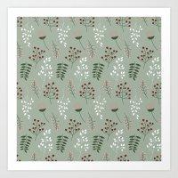 Floral Mood Pattern 1 Art Print