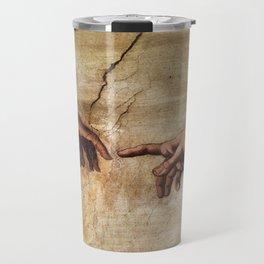 The Creation of Adam by Michelangelo Travel Mug