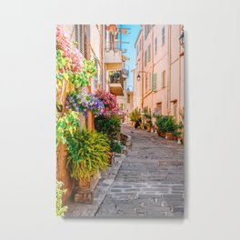 Charming Cannes City Streets, Urban Street Architecture, French Riviera, City Street Cannes France, Beautiful Street In Cannes Metal Print