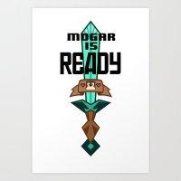 roosterteeth Art Prints featuring Mogar Is Ready by sonnibun