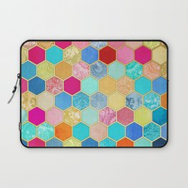 Patterned Honeycomb Patchwork in Jewel Colors Laptop Sleeve