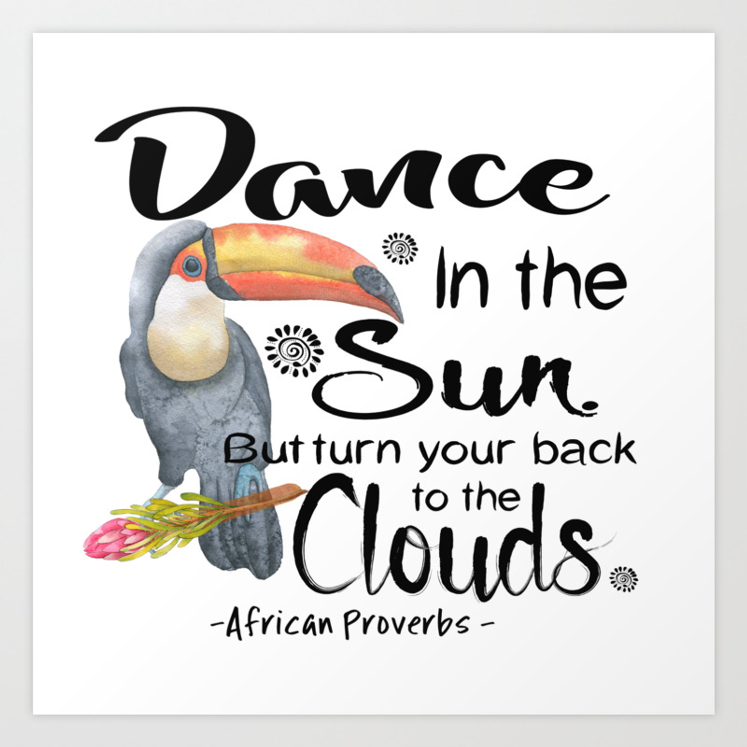 Dance in the sun art print by zebraonmystoepdesigns society6