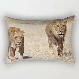 Duo Infernale, Africa wildlife Rectangular Pillow