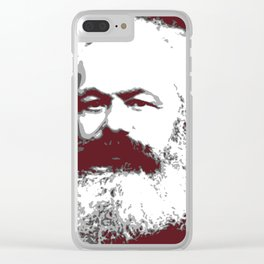 Karl Marx Clear iPhone Case