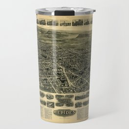 Aerial View of Meriden, Connecticut (1918) Travel Mug