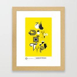 Type Poster Framed Art Print