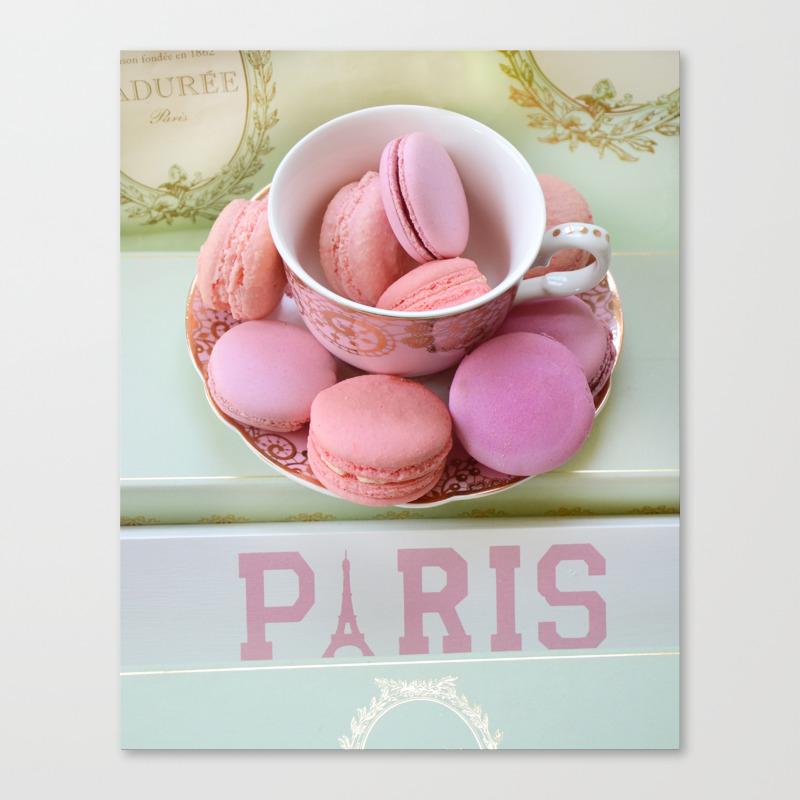 Paris Laduree Macarons Canvas Print By Kathyfornal Society6