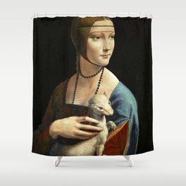 Leonardo Da Vinci Portrait Of Cecilia Gallerani Shower Curtain