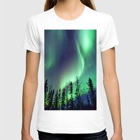northern lights T-shirts featuring Northern Lights in Yellowknife by Vincent Demers