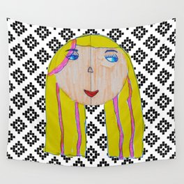 Blonde Girl Wall Tapestry